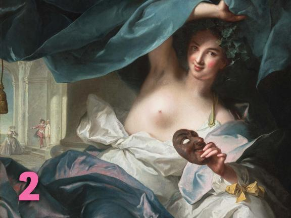 Jean Marc Nattier's painting, Thalia, Muse of Comedy