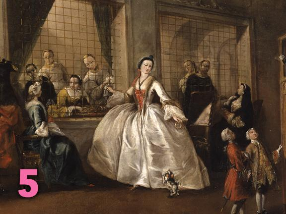 Francesco Guardi's painting, The Parlatorio