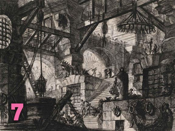 Giovanni Battista Piranesi's etching, The Well