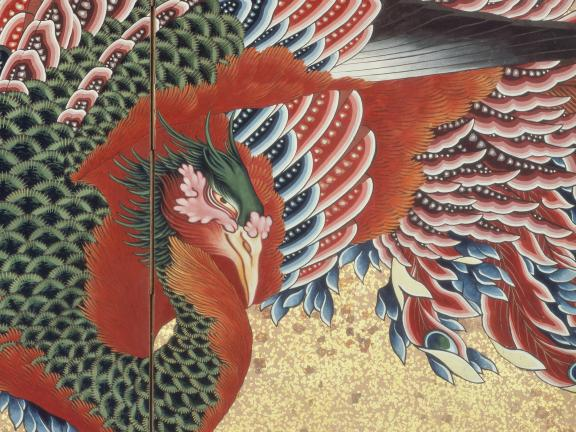 Detail of Katsushika Hokusai's print, Phoenix