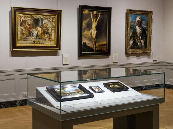 Installation view of Danish and Flemish paintings