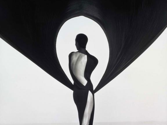 Herb Ritts, Versace Dress, Back View, El Mirage, 1990