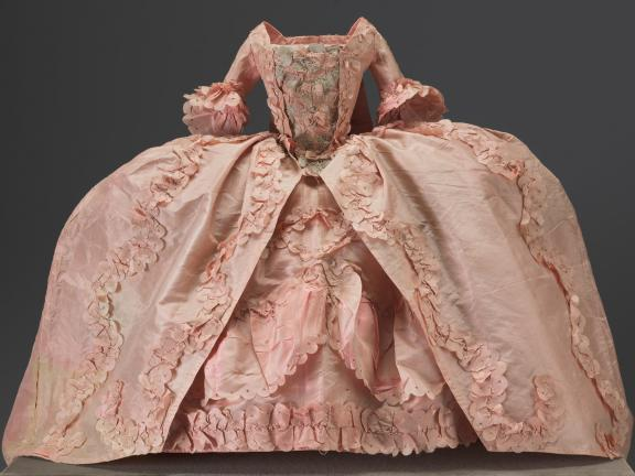 pink doll's dress from 18th century