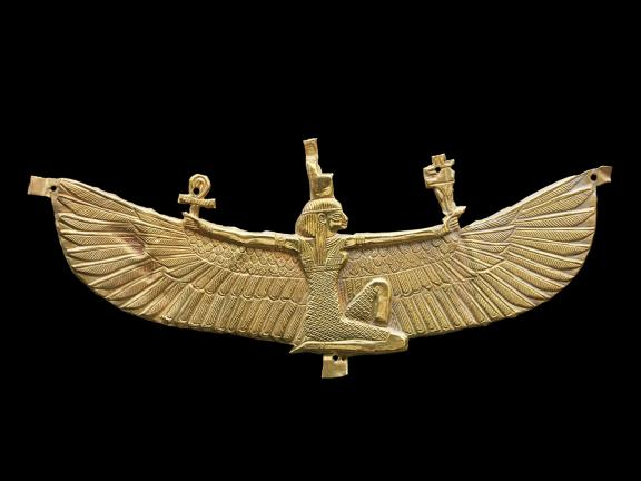 Winged Isis Pectoral, gold ornament.