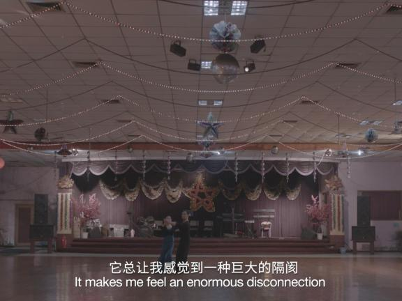 Still from Hao Jingban's video work, Off Takes