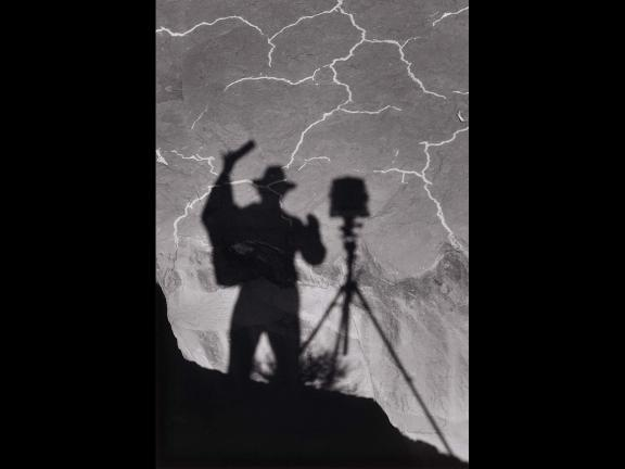 Ansel Adams' photograph, Self-Portrait, Monument Valley, Utah