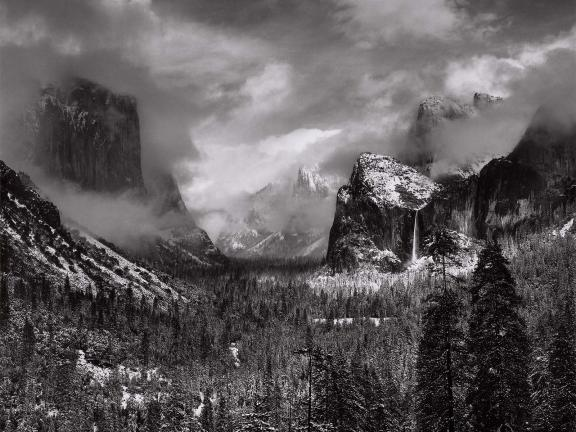Ansel Adams' photograph, Clearing Winter Storm, Yosemite National Park