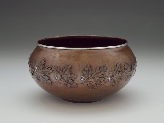 Copper jardinière by Arthur Stone