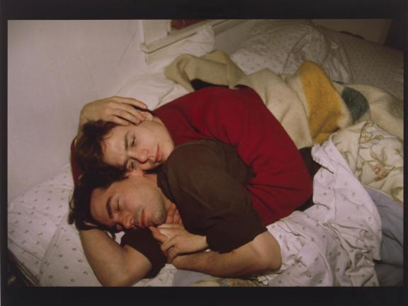 Nan Goldin's photograph, Lewis and Matt on the Bed
