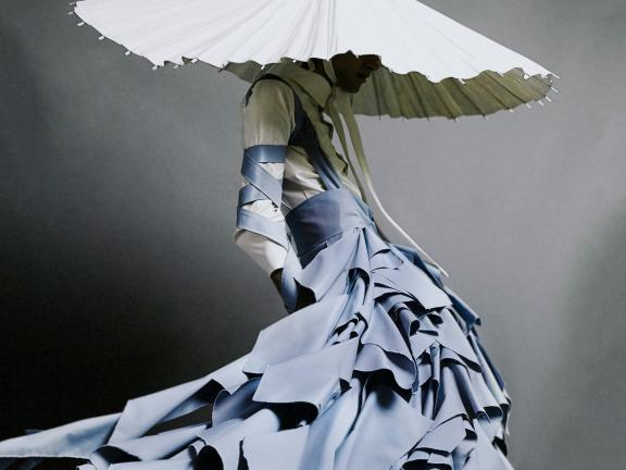Detail of the Alessandro Trincone-designed dress, Annodami