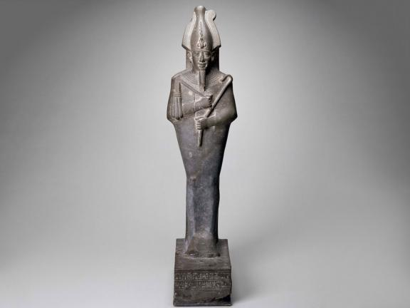 Egyptian, Late Period, Dynasty 26, Statue of Osiris (upper part,) 664–525 B.C.