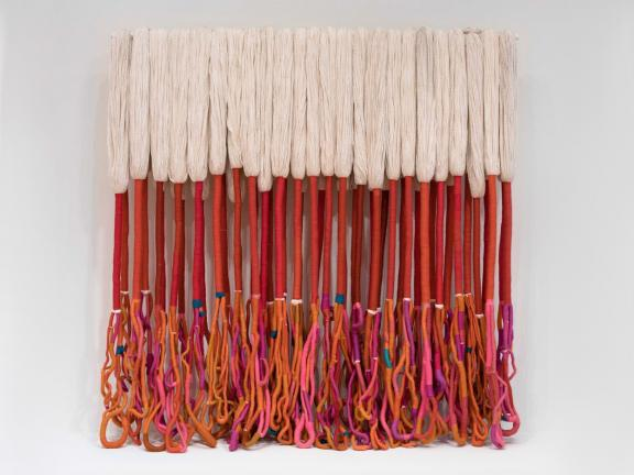 Sheila Hicks' wool and acrylic yarn piece, Bamian