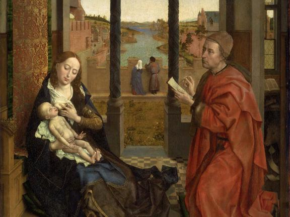 Rogier van der Weyden, Saint Luke Drawing the Virgin, about 1435–40. Gift of Mr. and Mrs. Henry Lee Higginson. 93.153