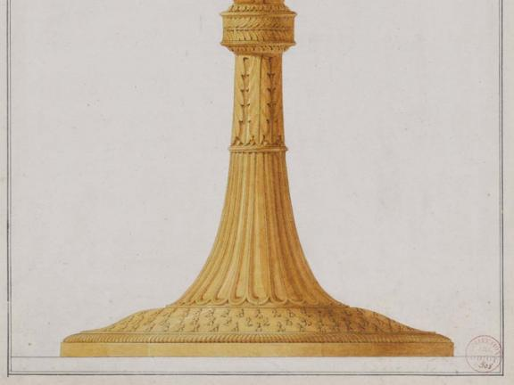 drawing of candlestick