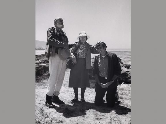 Ted Orland, Ansel Adams and Imogen Cunningham Awarding Jerry Uelsmann the Title of Honorary West Coast Photographer at Weston Beach, Point Lobos, CA