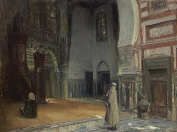 Henry Ossawa Tanner, Interior of a Mosque, Cairo, 1897