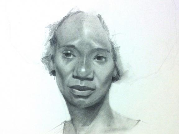 Portrait drawing by Jeff Ellse