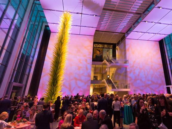 Shapiro Courtyard during Matisse opening reception