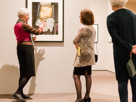 Anne Havinga giving a tour of Hiro Photographs