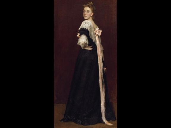 Portrait of woman in 19th century clothing