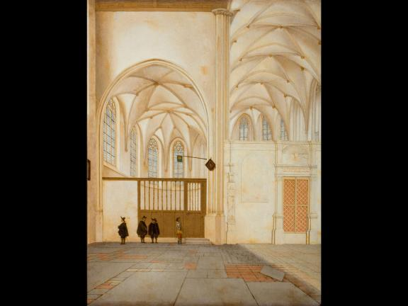 Pieter Jansz. Saenredam's painting, The North Transept and Choir Chapel of Sint Janskerk, Utrecht