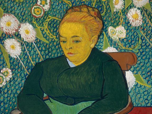 Vincent van Gogh, Lullaby: Madame Augustine Roulin Rocking a Cradle (Las Berceuse), 1889