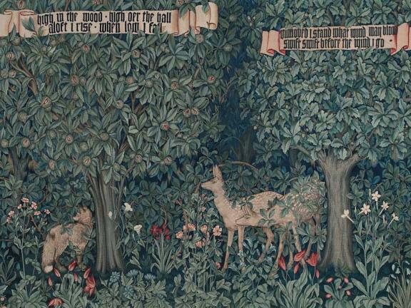 Detail of tapestry: Greenery