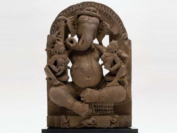Ganesha with His Consorts, early 11th century