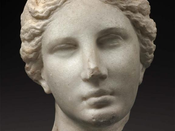 sculpture of Aphrodite's head