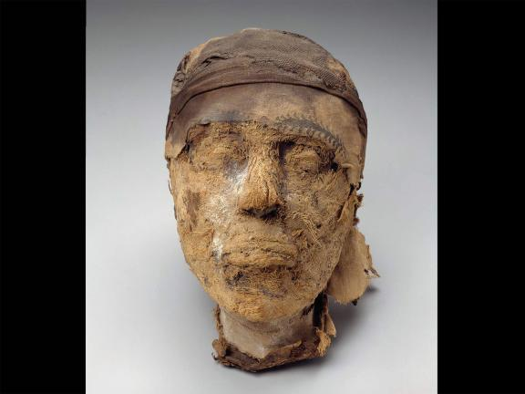 Head of the mummy of Djehutynakht, Egyptian, Middle Kingdom, late Dynasty 11–early Dynasty, 2010–1961 B.C.