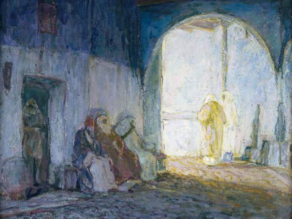 Henry Ossawa Tanner, Street Scene, Tangiers, about 1912. The John Axelrod Collection—Frank B. Remis Fund, Charles H. Bayley Fund, and The Heritage Fund for a Diverse Collection.