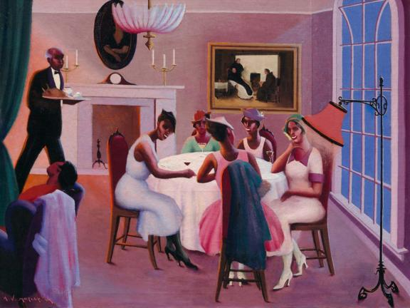 Archibald Motley, Cocktails, about 1926. The John Axelrod Collection—Frank B. Remis Fund, Charles H. Bayley Fund, and The Heritage Fund for a Diverse Collection.