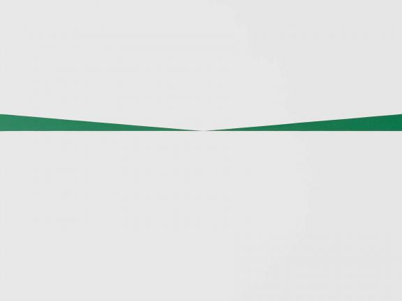 Carmen Herrera, Blanco y Verde (#1), 1962. The Heritage Fund for a Diverse Collection.