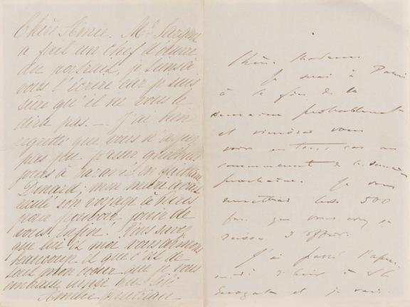 Letter from John Singer Sargent and Amélie Gautreau to Emma-Marie Allouard-Jouan, late summer 1883
