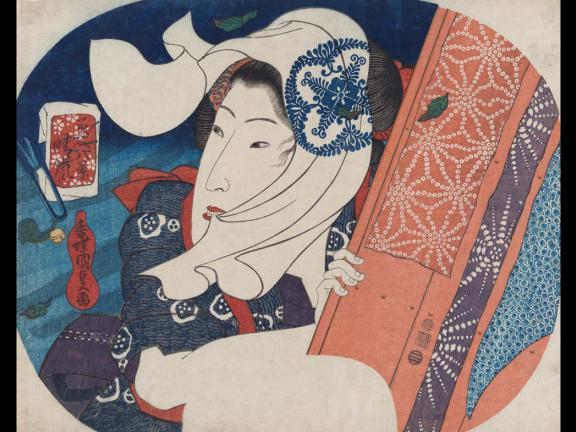 Utagawa Kunisada I's print, Clearing Weather (Seiran), 1833.