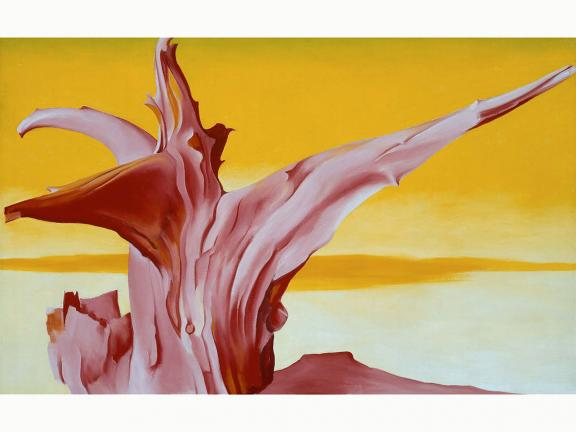 Georgia O'Keeffe's painting, Red Tree, Yellow Sky, 1952