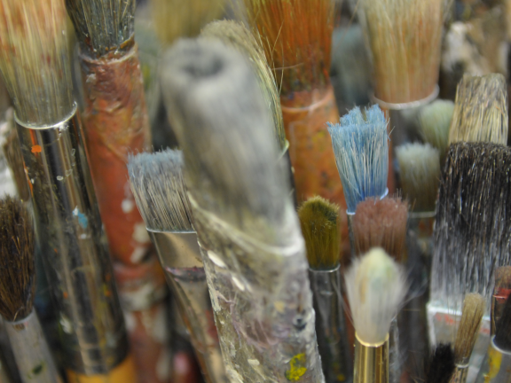 close up of paintbrushes SAC