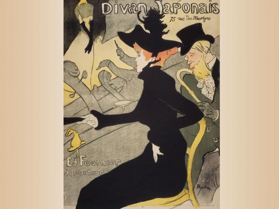 Henri de Toulouse-Lautrec, Divan Japonais, 1893. Lithograph.
