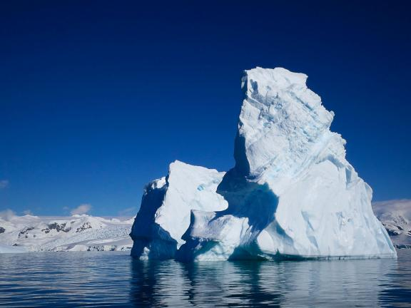 Right side of Georgie Friedman's photograph, Foyn Iceberg No. 1, from Antarctica Series