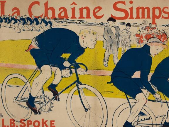 """Henri de Toulouse-Lautrec, Poster for """"La Châine Simpson"""" Bicycle Chains, 1896"""