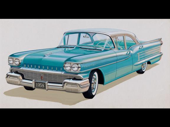 Oldsmobile Dynamic 88 four-door sedan, model year 1958, about 1957