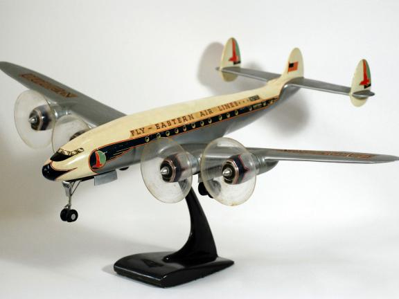 Eastern Airlines Constellation, after an original airplane manufactured by the Lockheed Corporation, late 1940s
