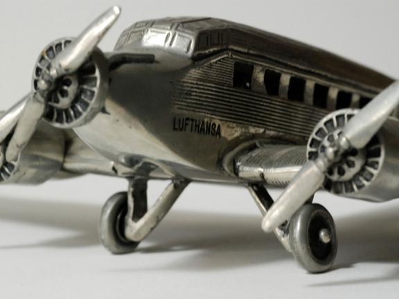 Deutsche Lufthansa Ju 52 model, after an original airplane built by Junkers Flugzeug- und Motorenwerke AG, 1930s