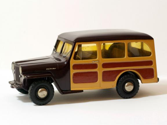 Willys Jeep Station Wagon model, made by Al-Toy, a division of Toledo Casting Corporation after original design by Brooks Stevens for Willys-Overland Motors, Inc., about 1948