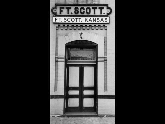 Gordon Parks, Railway Station Entrance, Fort Scott, Kansas, 1950
