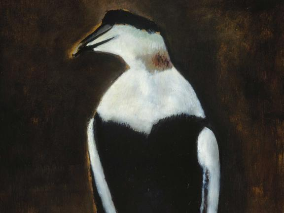 Detail of Marsden Hartley's oil painting, Black Duck