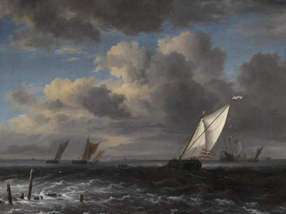 Jacob Isaacksz. van Ruisdael's painting, Rough Sea