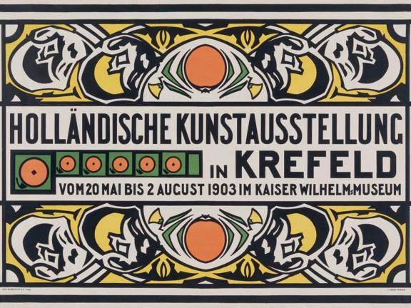 Johan Thorn Prikker's poster, Holländische Kunstausstellung in Krefeld (Dutch Art Exhibition in Krefeld)