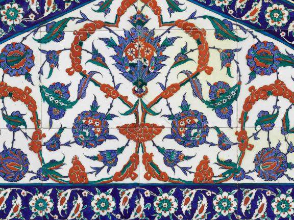 Detail of Ottoman tile lunette