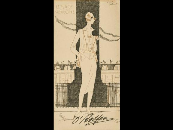 Invitation for O'Rossen Fashion Show, illustrated by Robert Polack